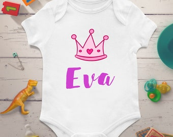 Personalized baby onesie, Personalized baby bodysuit, Custom baby onesie, Custom baby bodysuit, Princess baby bodysuit, Princess baby onesie