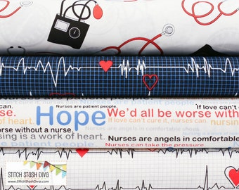 Nurses Bundle From Windham Fabric's Calling All Nurses - 4 Fabrics