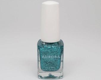 Aquamarine | Holiday 2017 Gemstones Collection | AURORA 5-Free Nail Lacquer | Handmade Nail Polish