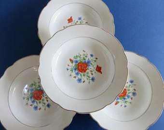 Former DIGOIN- SARREGUEMINES - Set of 4 Plates - Model Lannion - 3 Lots available -