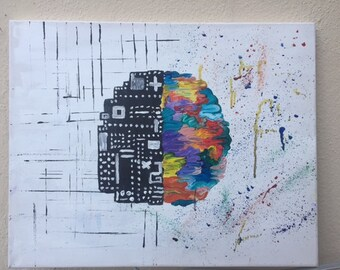 right vs left brain painting