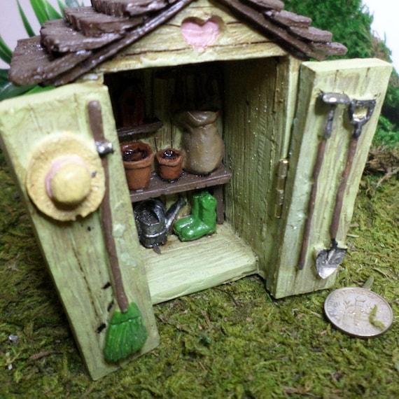 Potting Shed Fairy Garden Miniature Gardening Fairy Garden Kit