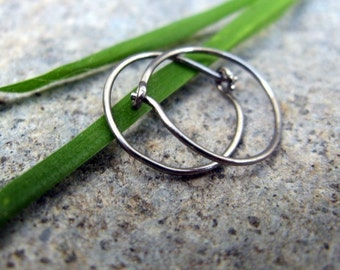 sensitive niobium hoop earrings-- primitive series-- handmade by thebeadedlily