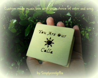 music box, wooden music box, custom gift, you are my sunshine, personalized music box, music box shop, birthday, christmas gift, daughter