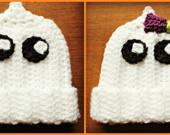 Crochet Baby Ghost Hat, Ghost Hat, Baby Halloween Hat, Halloween Hat, Crochet Halloween Hat, Newborn Hat, Ghost Costume, Baby Costume