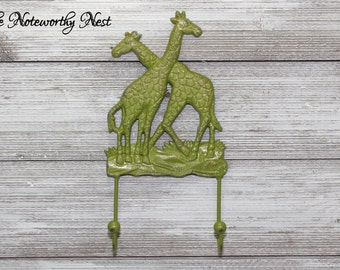 ANY COLOR Giraffe hook //nursery // boys bedroom // safari decor // nursery decor // zoo nursery // giraffe nursery // nursery hook