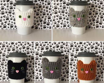 Cats and Coffee, Cat Person Gift, Cat Dad Gift, Crazy Cat Lady Gifts, Cat Mama, Funny Cat Gifts, Black Cat Gift, Orange Cat, Coffee Cup Cozy