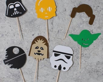 Star Wars cupcake toppers; Birthday party; Star wars Theme; May the 4th be with you; Star Wars party