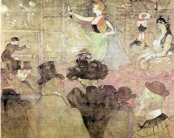 """Toulouse-Lautrec - The Moorish Dance or """"Les Almees"""" to Frame or to use in Paper Arts, Collage, Scrapbooking, Mixed Media and MORE PSS 3204"""