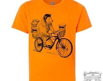 Kids BOOK BEAR Premium vintage soft Tee T-Shirt Fine Jersey T-Shirt (+Colors) - FREE Shipping