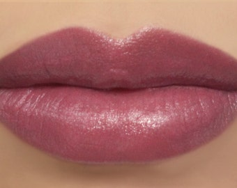 "Vegan Lipstick - ""Ladylike"" (natural dusty rose pink lipstick) lip tint, balm, lip colour mineral lipstick"