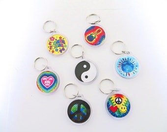 Choose a Groovy Keyring from this Colorful Array of Awesome Hippie Keychains