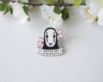 No Face pin, Notice me senpai - Spirited Away, Miyazaki, Ghibli, kaonashi, pins, cute, kawaii, geek