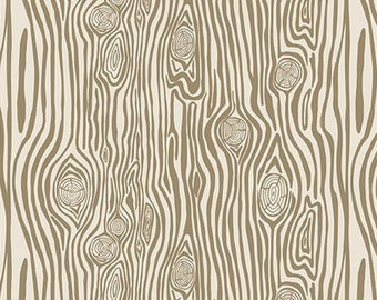 Woodgrain Tan From Riley Blake Design's High Adventure 2 Collection by Dani 100% cotton- C7254