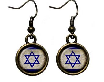 Israel Israeli Flag Earrings