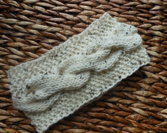 Knit Headband  Ear Warmer Head Warmer Cream Oatmeal