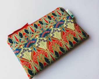 Liberty of London 'Ianthe' Tana Lawn  lined and padded make up bag / cosmetic pouch/pencil case - made in Cornwall