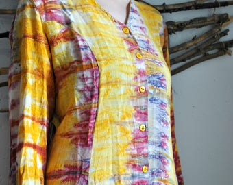 Colorful oversize dress 1990s 1980s voho casual