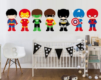 Super hero wall art sticker vinyl for child's bedroom
