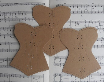 4 french corset - chipboard