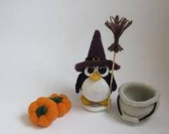 Thread Artist Crochet Penguin, Handmade gift Halloween