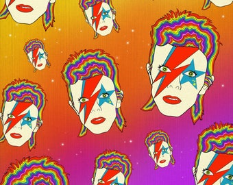 Ziggy Played Rainbows- David Bowie Art Print
