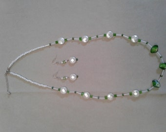 White coin necklace