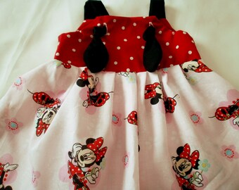 MINNIE MOUSE Knot Dress  @@ Sizes from 9 mo. to 6T girls @@
