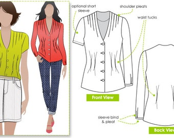 Suzie's Sister Top - Sizes 14, 16, 18 - Women's PDF Sewing Pattern by Style Arc