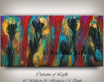 """Abstract painting, Large modern wall art, Modern art oil paintings Abstract Art 48"""" wall art decor, Original Painting by Nandita Albright"""