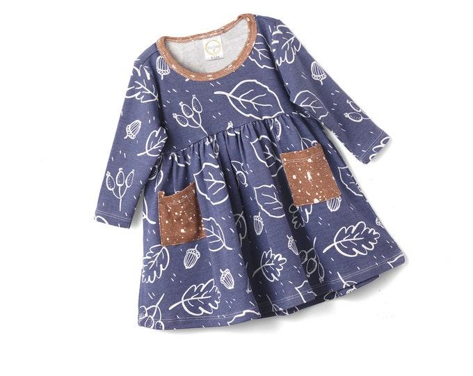 Baby Girl Dress, Newborn Baby Flower Girl Dress, Baby Girl Blue Dress, Toddler Girl Dress, Baby Girl Dress, Autumn Baby Dress, TesaBabe