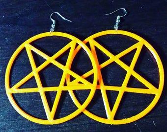Inverted Pentagram earrings