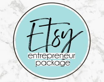 Etsy Shop Entrepreneur Package // Etsy Shop Branding, Small Business, Business Card Design, Custom Logo and Graphics