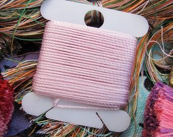 Blush Pearl Pink Beading String Beadwork Cord Craft Knotting String Bead Crochet Thread Craft Weaving String Spool Supplies Braiding Cord