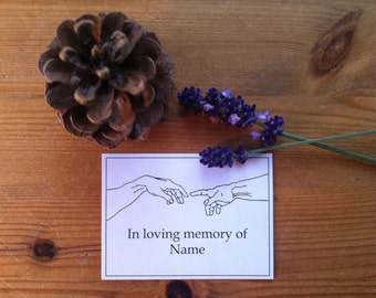 In Loving Memory Booklabels The Creation of Adam 15 Personalized Ex Libris Bookplates