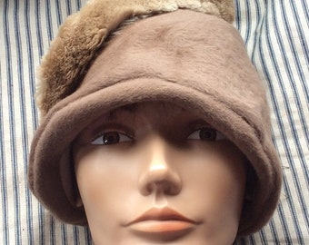 FRENCH CLOCHE HAT, vintage, mid  century, funky style, hand mad chic hat, vancouver B C