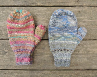 Knit Mittens - Blue