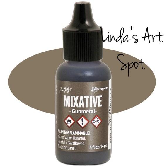 New Metal miixative Ranger Alcohol Ink / Adirondack Gunmetal Mixative