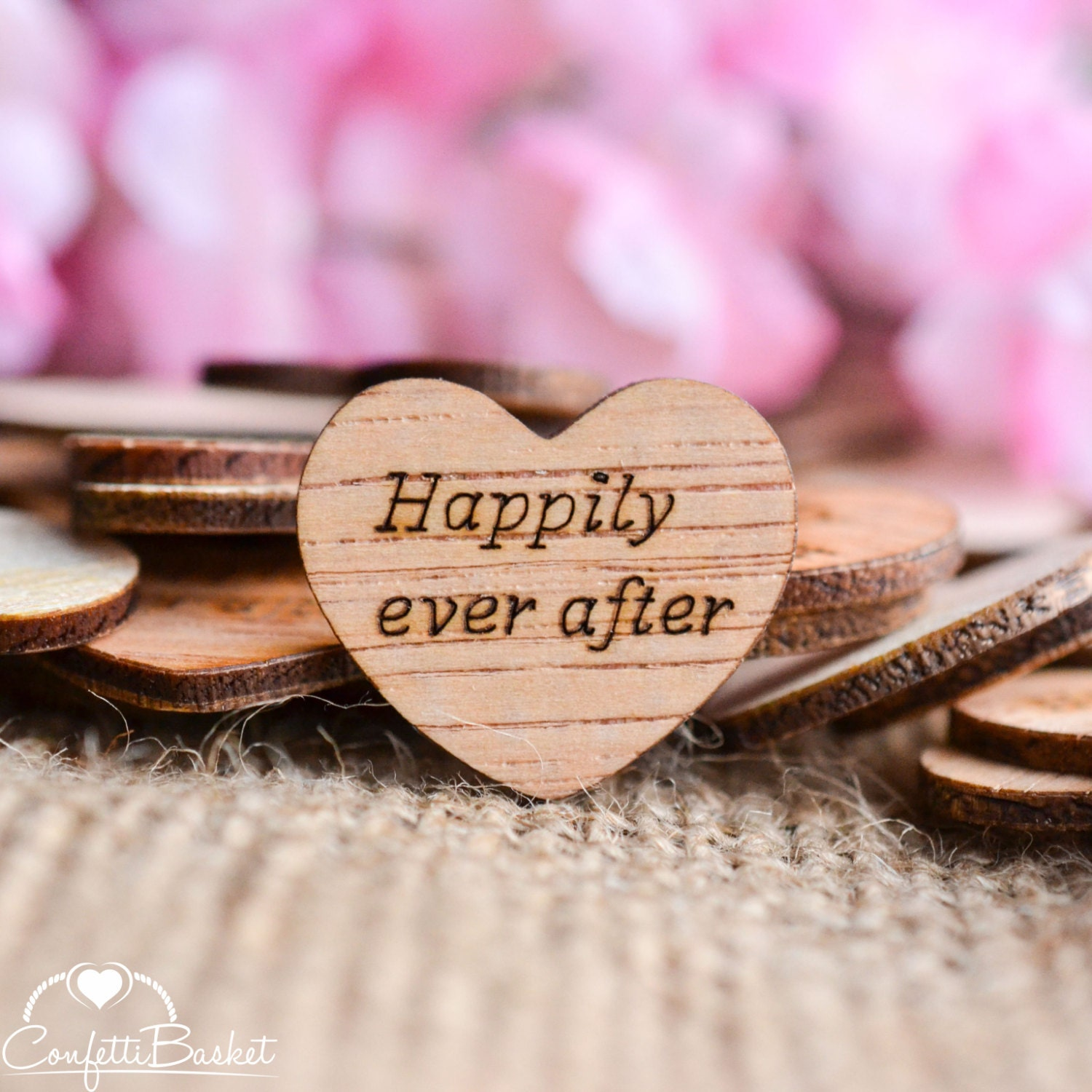 100 Happily Ever After Wood Hearts 1 Rustic Wedding