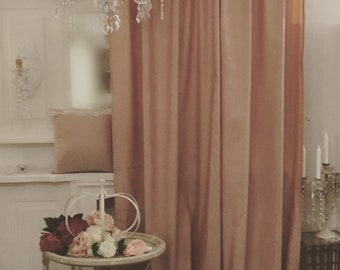 Curtain in Taffetá pink powder
