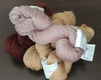 DESTASH- Lot of Cascade Yarns- Heritage Silk in various colors