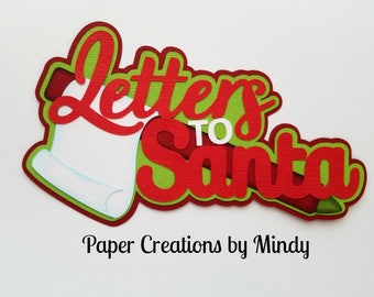 Letters to santa die etsy elite4u mindy letters to santa christmas xmas title premade paper piecing for scrapbook page album border spiritdancerdesigns Choice Image