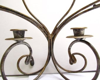 Metal candle holder, fireplace candle holder, wedding candles, centerpiece ,large candle holder,candelabra,