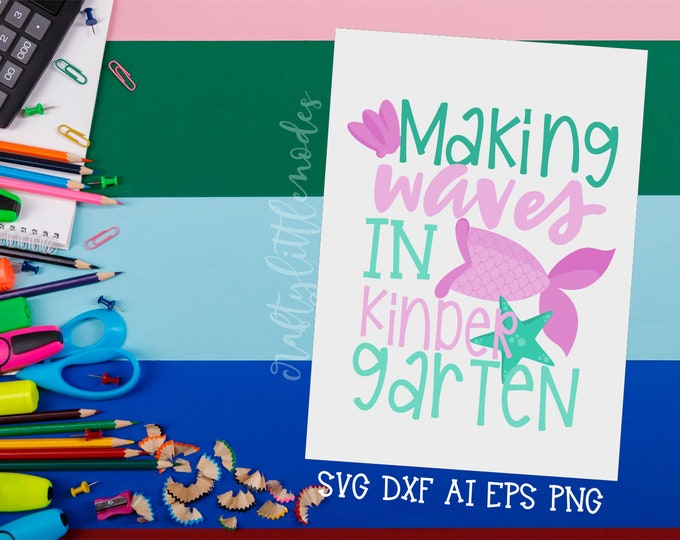 MERMAID Back to School, Bundle, Svg, Kindergarten, First Day, Mermaid Tail, Shirt Design, Commercial, Cutting File, Cricut, Silhouette