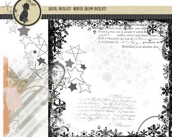 Winter Dream Photoshop Digital Overlays for Digital Scrapbook, Photo Overlays, Photoshop Digital, Digital Overlays