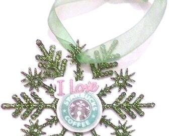 Starbucks Ornament , Coffee Ornament , Coffee Decor , Stocking Stuffer , Christmas Ornament