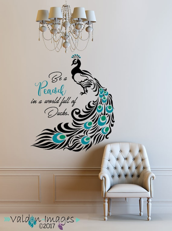 Superb Peacock Quote Decal Peacock Feathers Peacock Decor Peacock