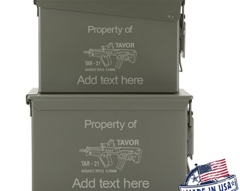 Laser Engraved 50 Cal Ammo Can Personalized SIG AR 15 Bullets Tavor Dad Gift Cool Guy Gifts Father's Day Gift Grandpa Gift Groomsmen Hunter