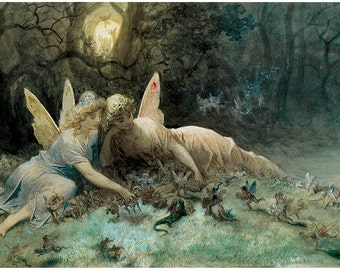 The Fairies Gustav Dore Art Frameable prints or puzzle