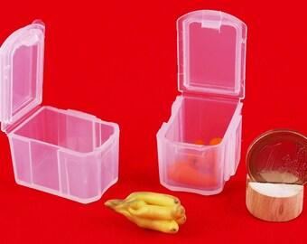 """Plastic box Dollhouse furniture 1:6 scale, Fruits Crates, Miniatures decor kitchen accessories dolls miniatures, vegetables shop, 12"""" blythe"""